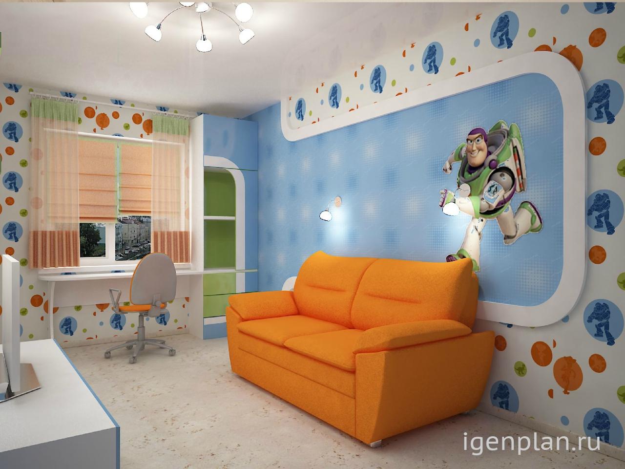 Дизайны детских комнат 10 кв м