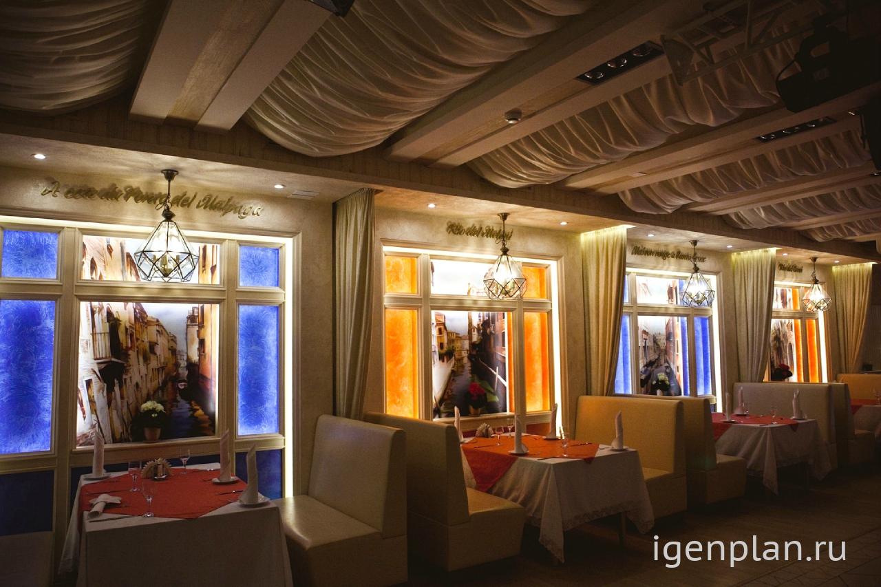 Интерьер в кафе в стиле итальянском
