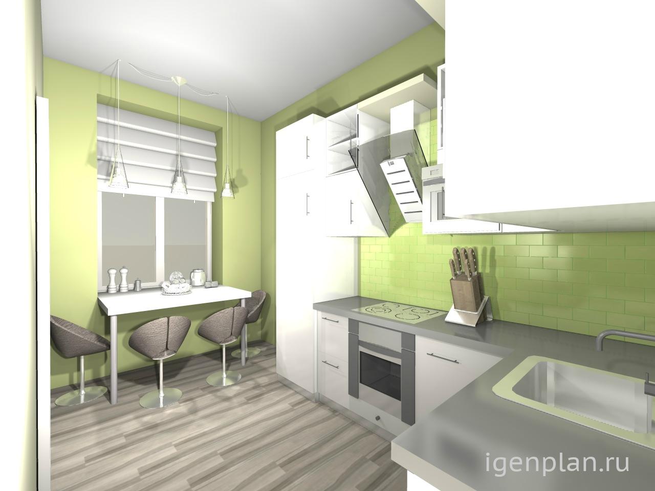 Как сделать ремонт на кухне 6 метров своими руками фото