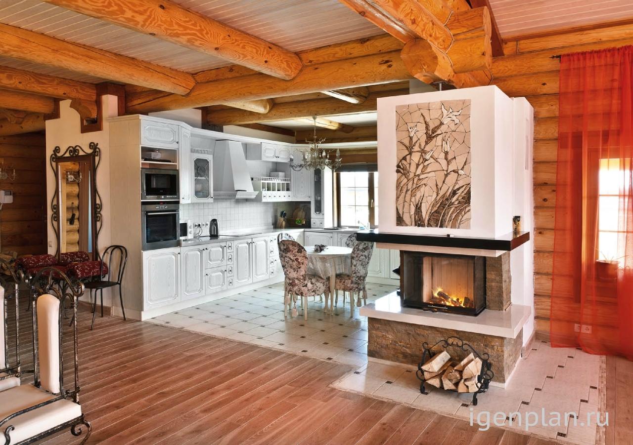 Дизайн деревянного дома-фото