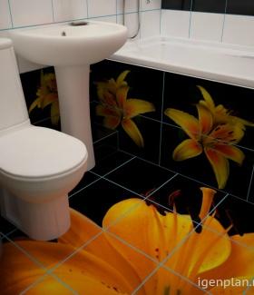 Дизайн для ванной лилия