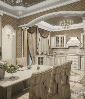 фото интерьеров кухонь в классическом стиле дизайн проекты кухонь в